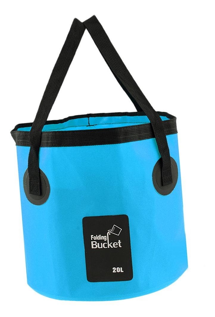 El contenedor plegable del agua del cubo 12L 20L lleva el bolso para la