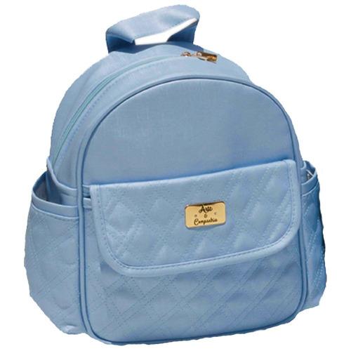 bolsa de costas mochila infantil e para mamães marinho