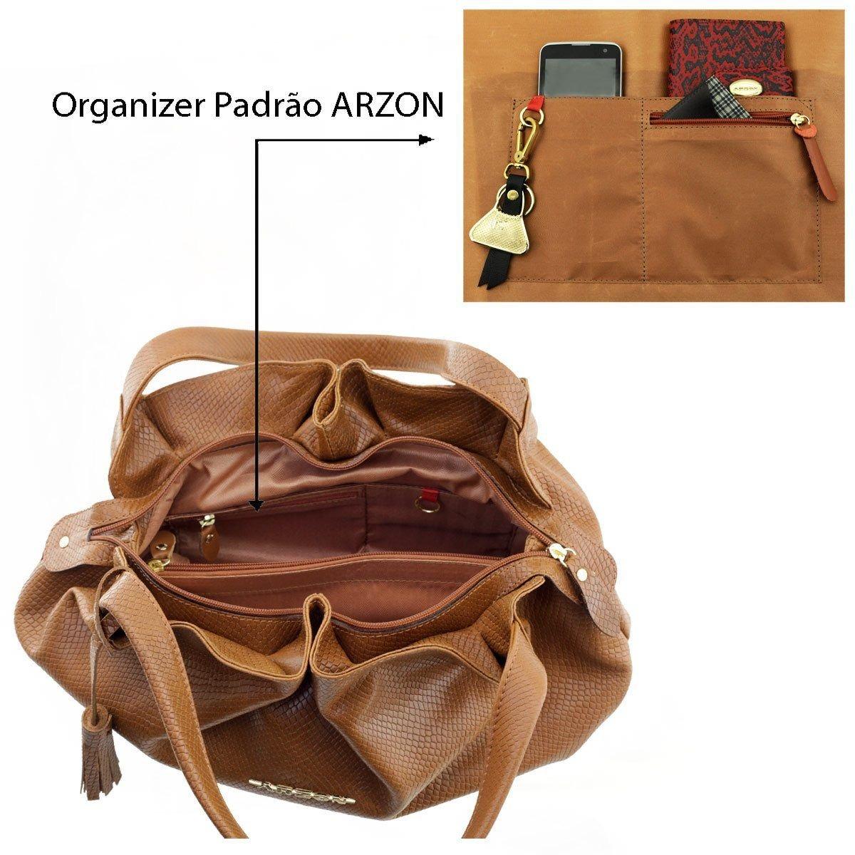 84d302351 Bolsa De Couro Drapeada Chocolate - R$ 306,85 em Mercado Livre