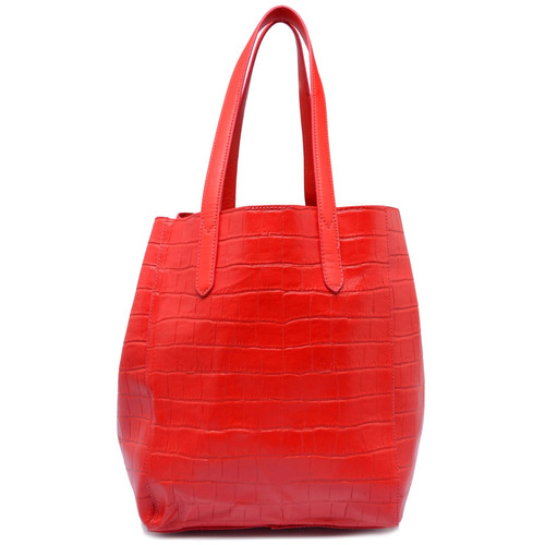 Bolsa De Couro Legitimo Vermelha : Bolsa de couro leg?timo croco ellus vermelha r
