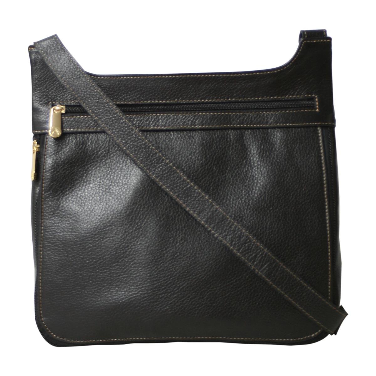 7d0691ea04 bolsa de couro legítimo transversal segura preta allegra. Carregando zoom.