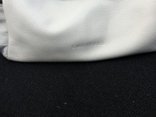 bolsa de couro smart bag bicolor bege com marron