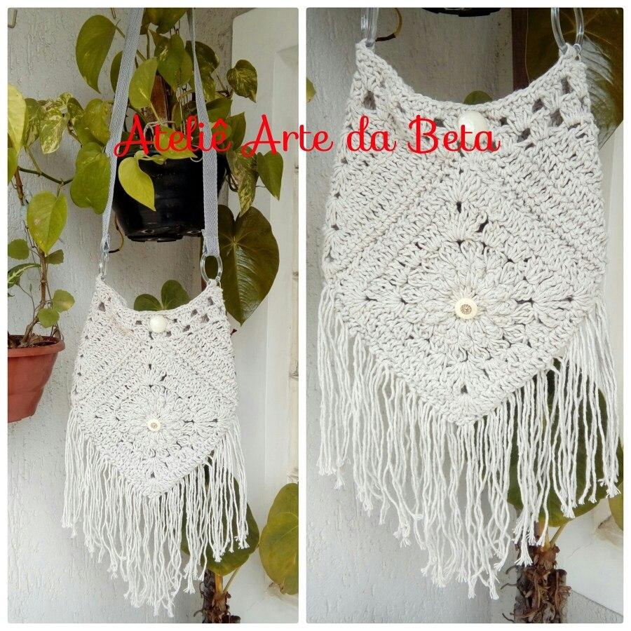 Bolsa De Crochê Transversal - R$ 60,00 em Mercado Livre