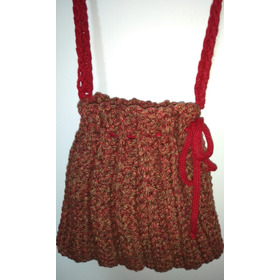 Bolsa De Crochê - Tecido Mesclado