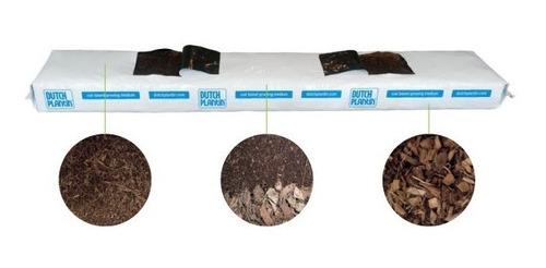 bolsa de cultivo fibra de coco + chips de coco 100x20x10