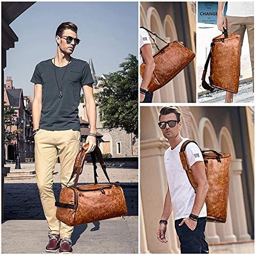 bolsa de deporte de los hombres mochila bolsa de lona (retro. 7 Fotos 157c9033ab8d1