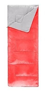 bolsa de dormir 187cm-72cm sin gorro breeze roja coleman