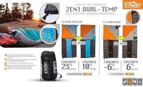 bolsa de dormir sleeping bag dual summertime ecology