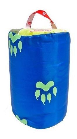 bolsa de dormir sleeping bag infantil azul brilla oscuridad