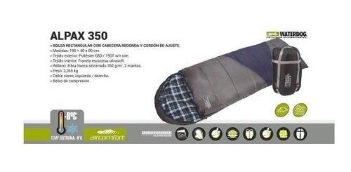 bolsa de dormir waterdog alpax 350 -8ºc c/funda de compresió