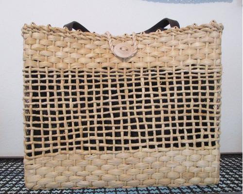 bolsa de feira - palha 40 x 34 x 14