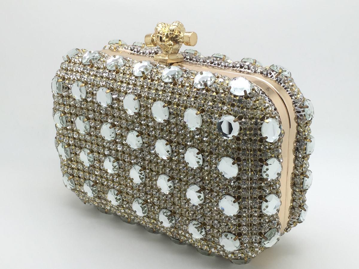 Bolsa De Mao Dourada Para Festa : Bolsa de festa clutch com pedraria dourada formatura