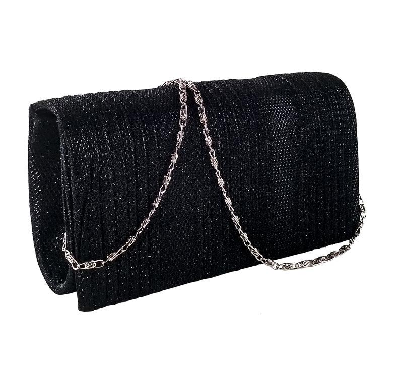 bolsa de festa clutch preta de mão e tiracolo para formatura. Carregando  zoom. 33a7dbaec91