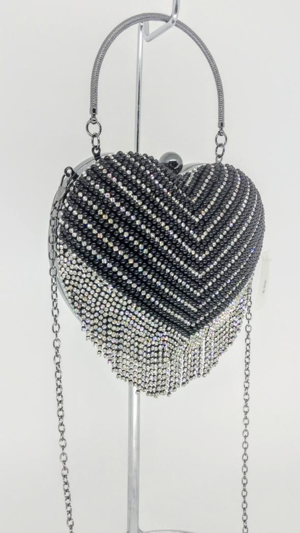 bdafd93453 bolsa de festa coração pérola prata dourada preta. Carregando zoom.