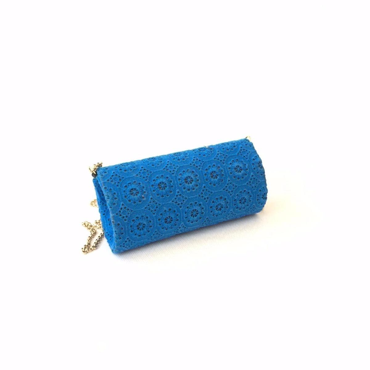 ccea9c4d6 bolsa de festa patricia henriques azul em tecido gripuir. Carregando zoom.