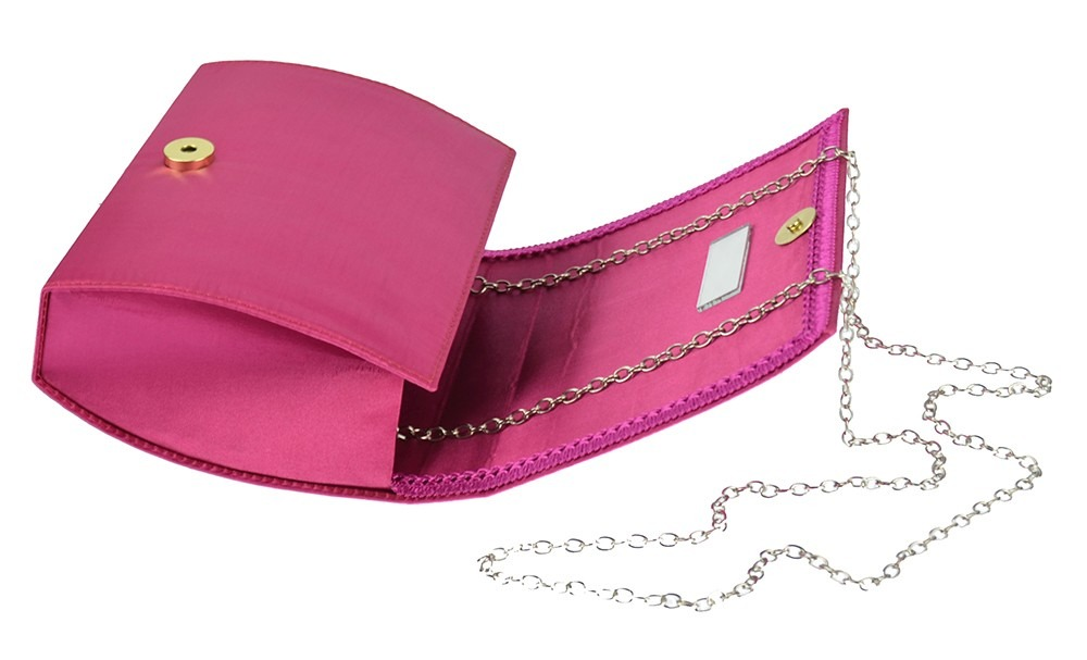 69ffd9d56 Bolsa De Festa Rosa Pink Clutch De Mão Pequena Alça Corrente - R$ 58 ...