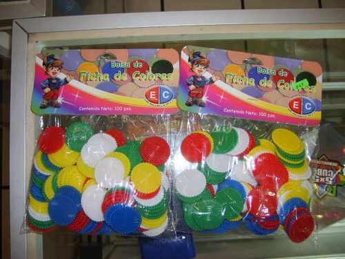 bolsa de fichas de colores