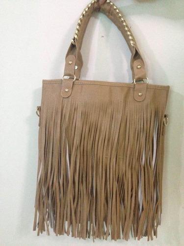 bolsa de franja- couro ecológico - importada (linda)