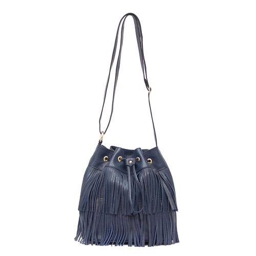 bolsa de franjas em couro - smartbag
