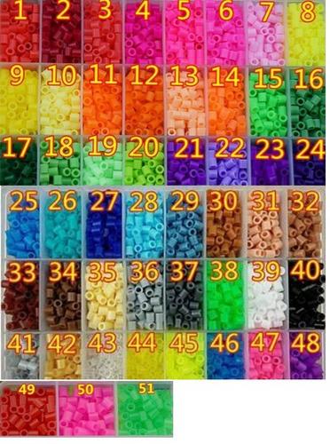 bolsa de hama beads de 5 mm de 100 unid elige tu color