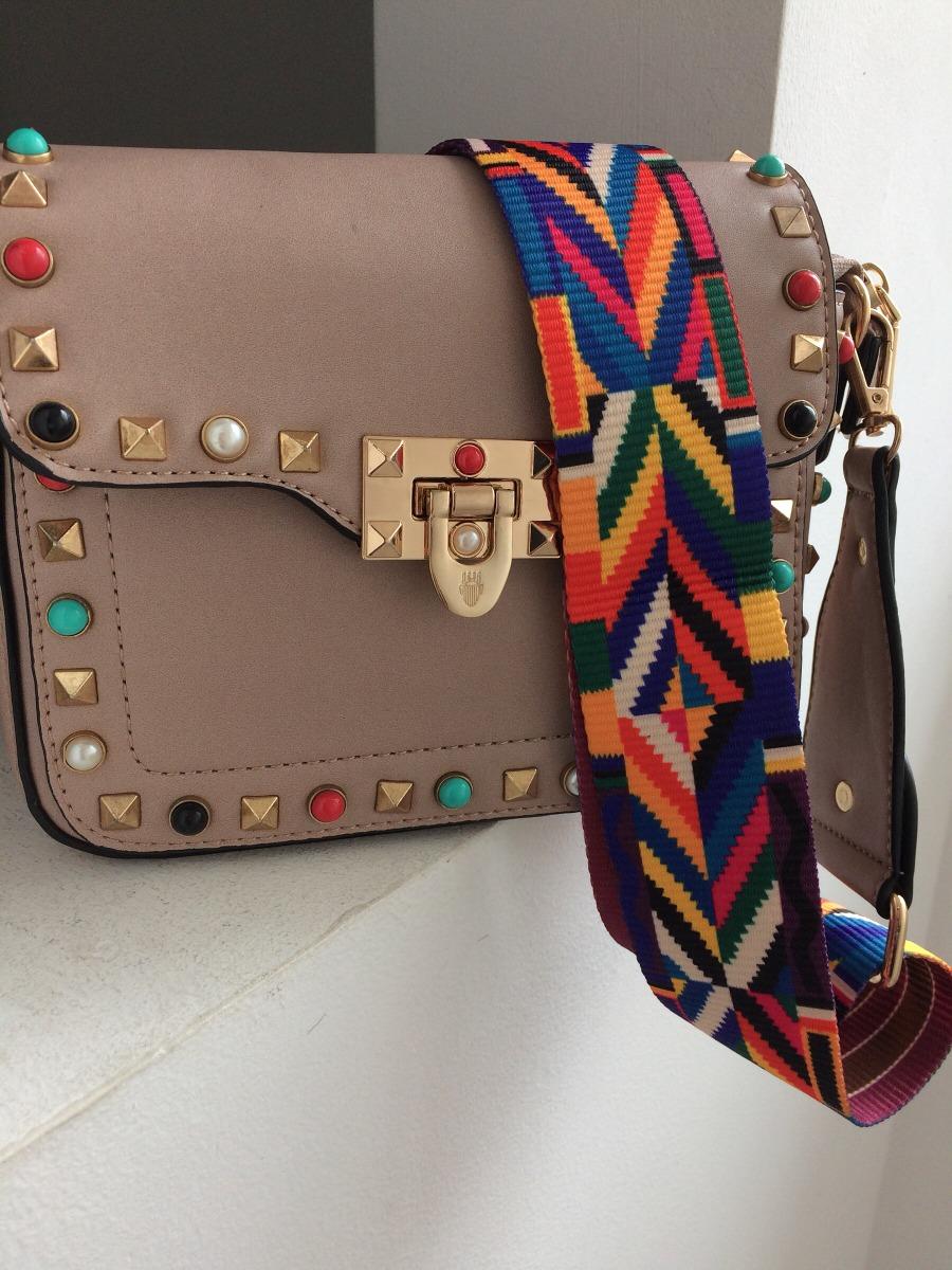 923b672b4 bolsa de lado feminina alça colorida couro sintético. Carregando zoom.