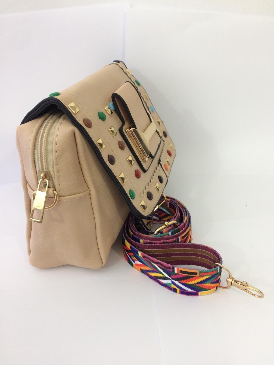 26821fc8e bolsa de lado feminina alça colorida pedraria colorida lili. Carregando zoom .