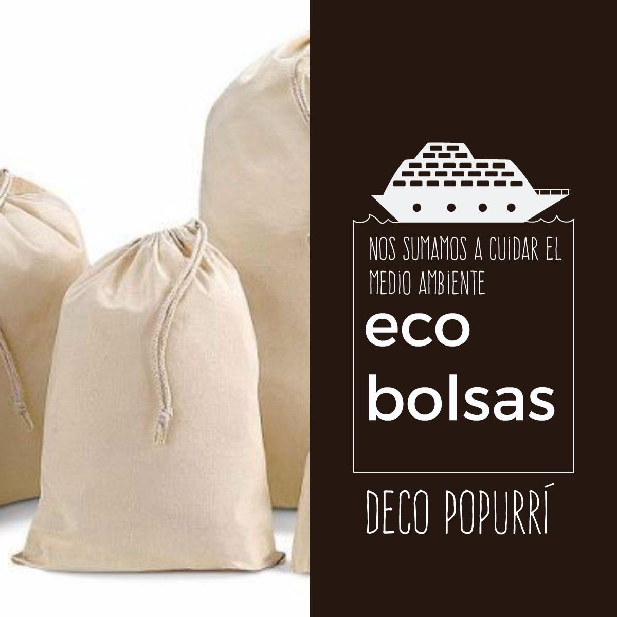 03d31c07d Bolsa De Lienzo Algodón Packaging Con Cordón 8x40 Cm - $ 14,00 en ...