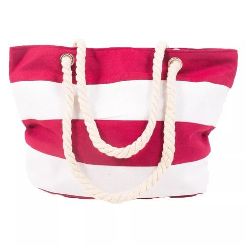 bolsa de lona c alca de corda sacola de praia listrado