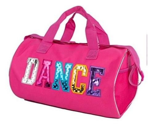 bolsa de lona con estampado de baile multicolor
