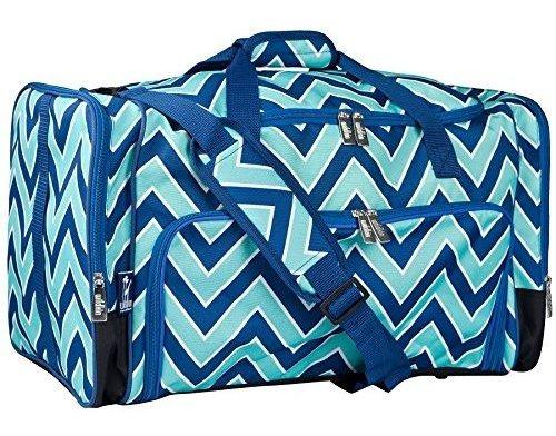 bolsa de lona wildkin weekender con correa de hombro extraib