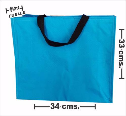 bolsa de mandado canasta con fuelle grande