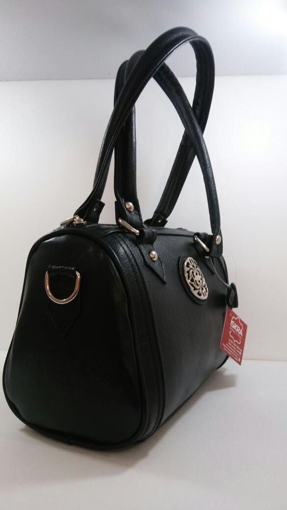 651150853 Bolsa De Mano De Piel Genuina. Bolsa Negra Para Dama. - $ 899.00 en ...