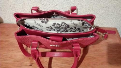 bolsa de mano h&co color rojo