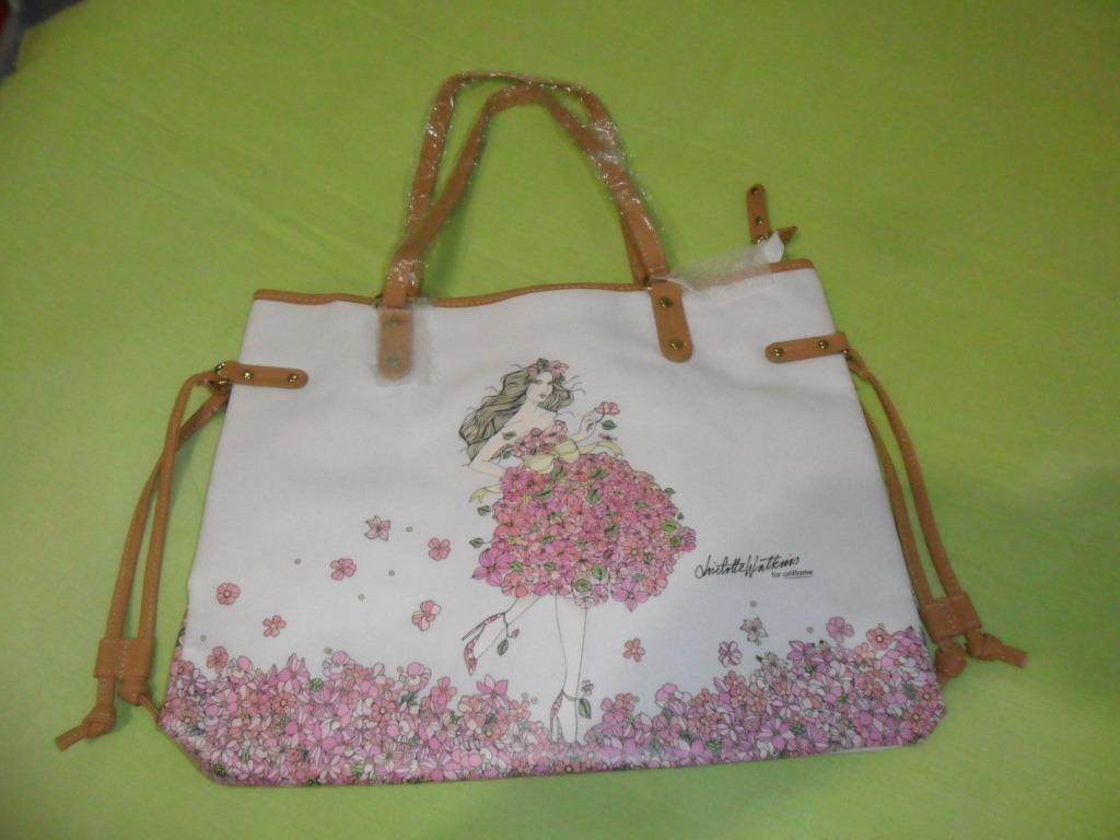 comprar online 9559d 9a804 Bolsa De Mano Oriflame Tela Hermoso Estampado Flores