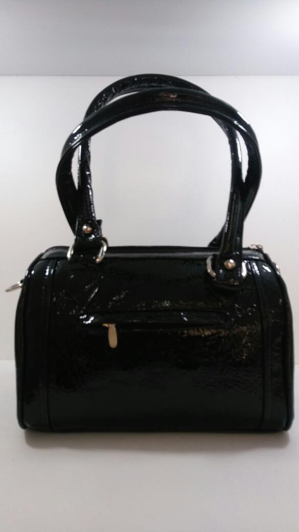 034a17c9c24 bolsa de mano piel genuina. charol negro. bolsa dama piel. Cargando zoom.