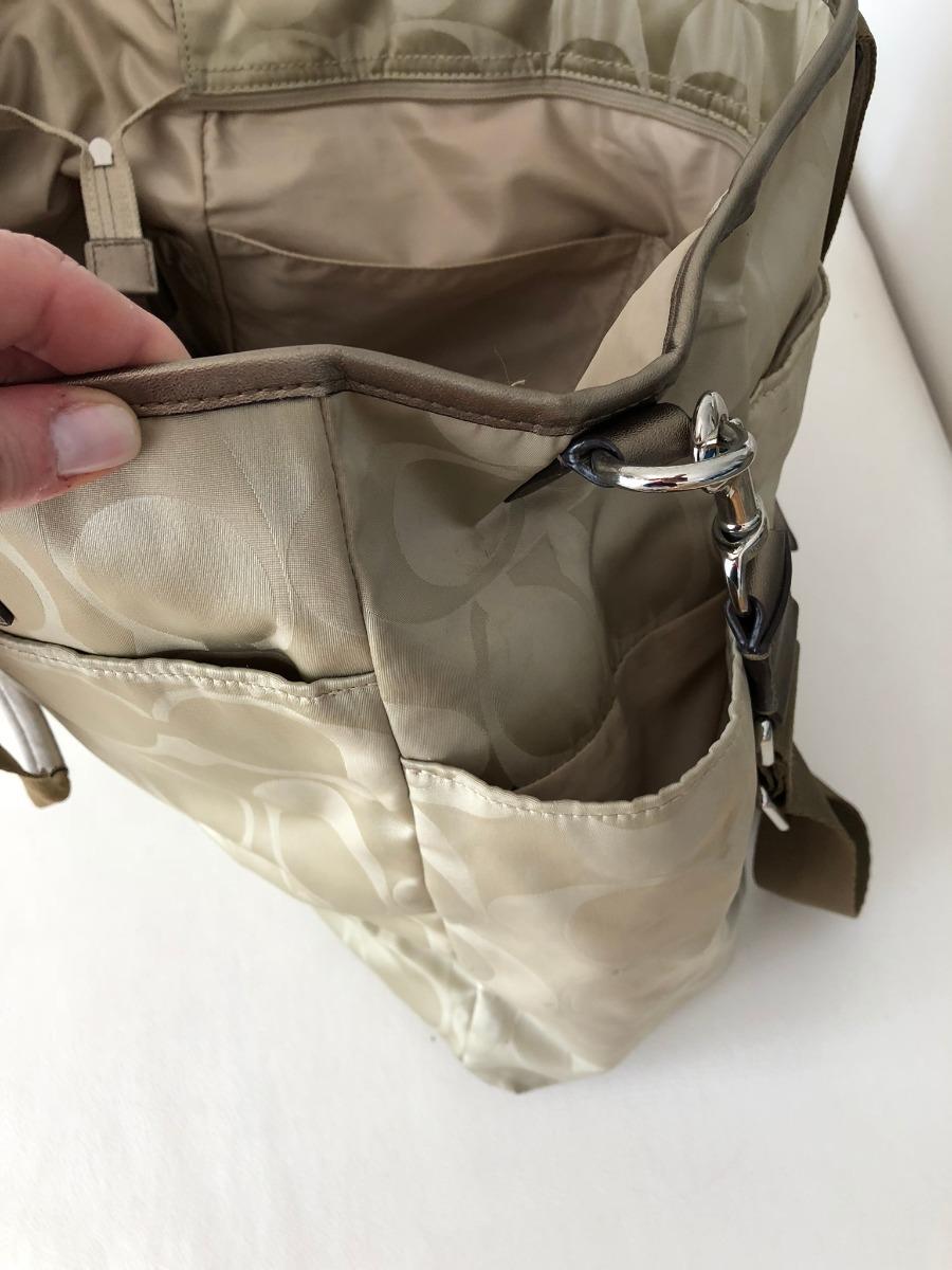 fe47b66c629 bolsa de maternidade - marca coach - bege - usada. Carregando zoom.