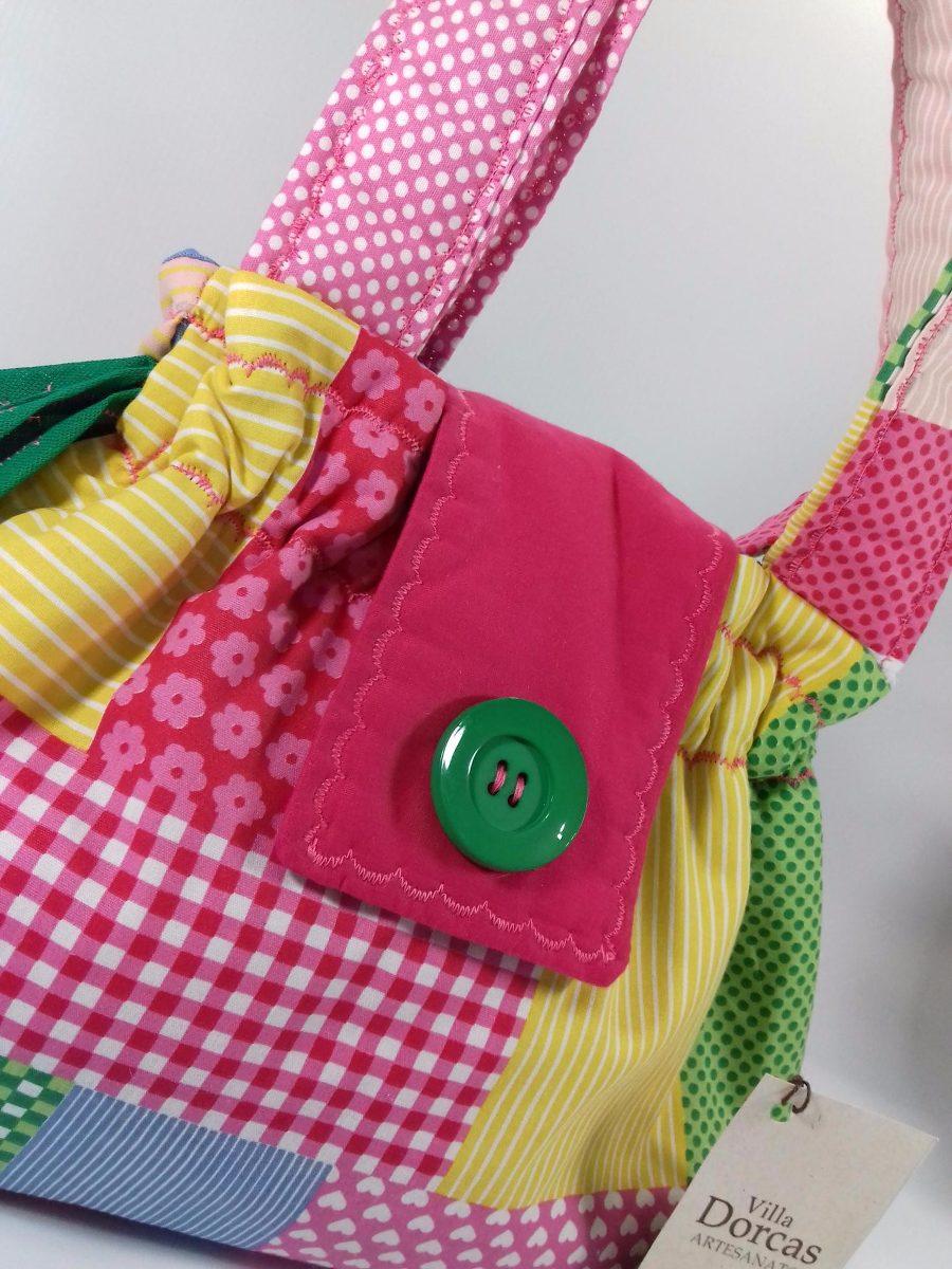 Bolsa De Mão R$ : Bolsa de m?o artesanal patchwork retalhos villa dorcas
