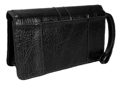 bolsa de mão capanga couro bennesh 7006 preto