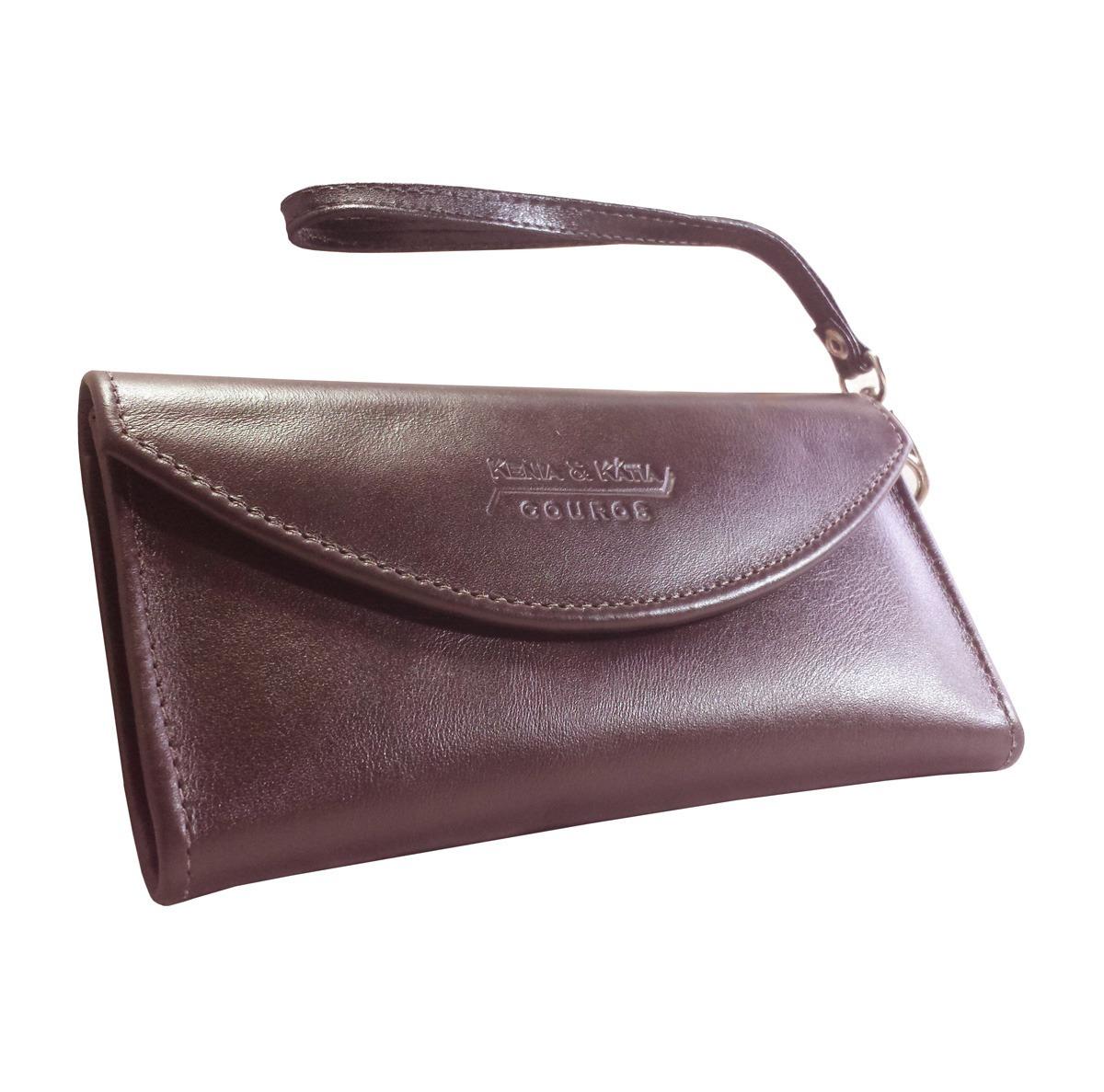 31189a694 bolsa de mão carteira feminina couro legítimo marrom cartões. Carregando  zoom.
