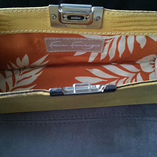 bolsa de mão em couro amarelo. nova! linda! imperdivel!