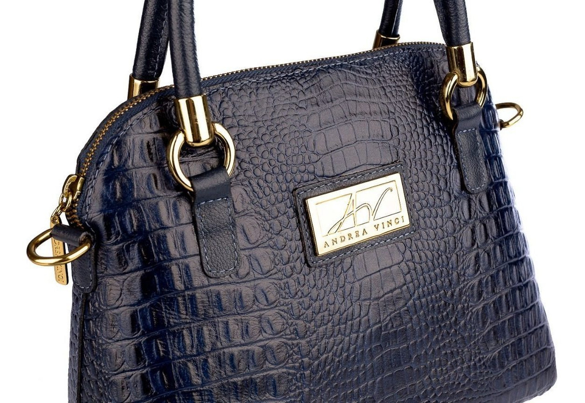 f8d4019eb8a41 Bolsa De Mão Em Couro Legítimo Donna Azul - R$ 389,00 em Mercado Livre