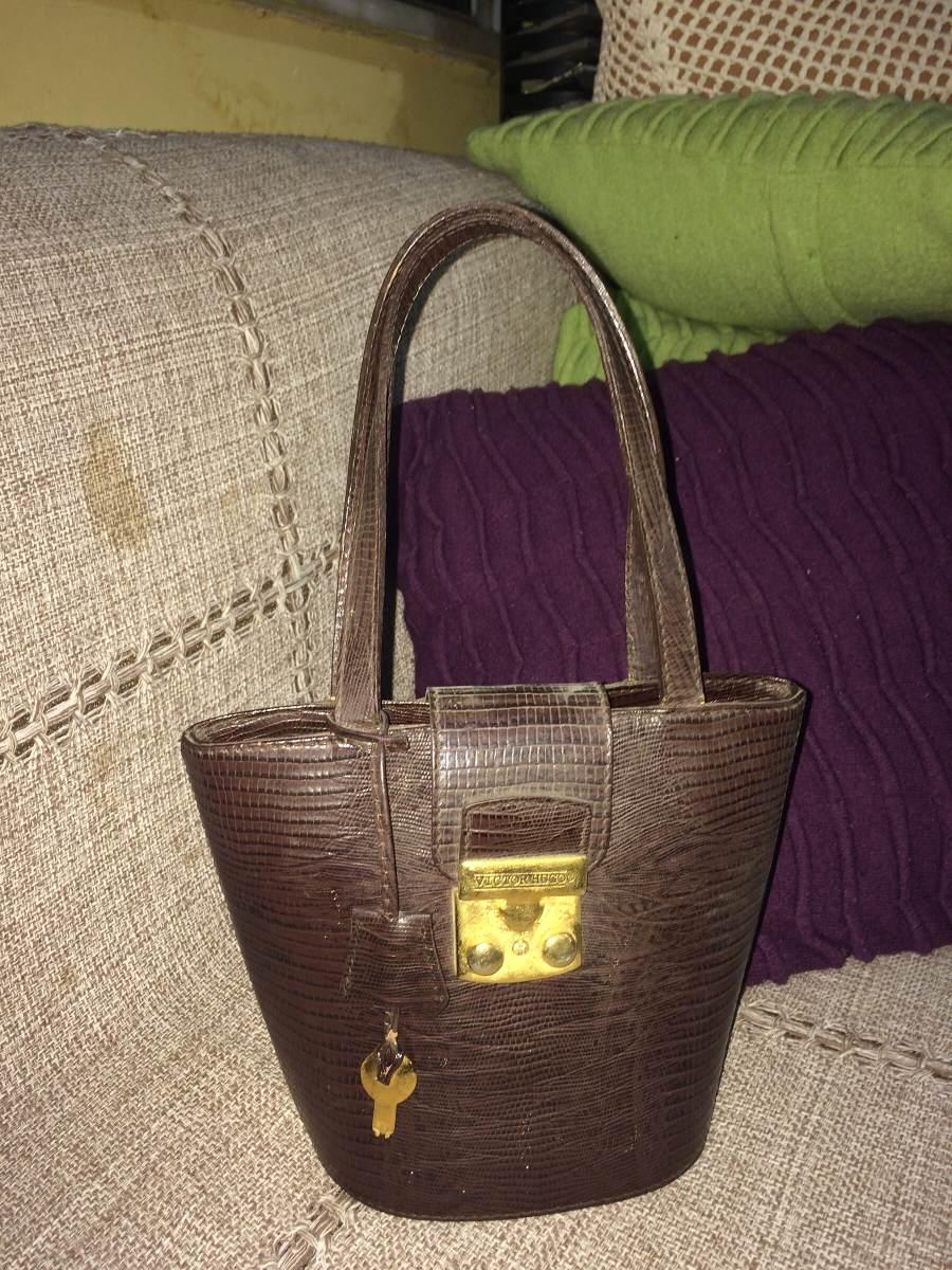 366af601759ec Bolsa De Mão Em Couro Marca Victor Hugo - R  100