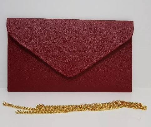 278cb9ad7 Bolsa De Mão Envelope Feminina Casamento Festas Vinho E278 - R$ 19 ...