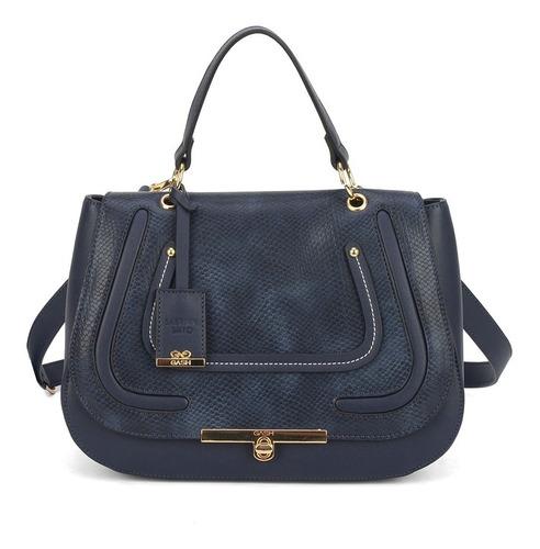 bolsa de mão transversal gash azul marinho bs69111