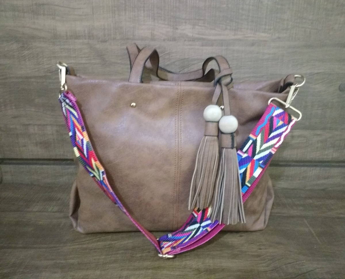 f24f615d2 Bolsa De Ombro Alça Colorida Franja - R$ 99,89 em Mercado Livre