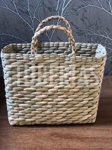 bolsa de palha de milho praia feira taboa sacola 30x39x17
