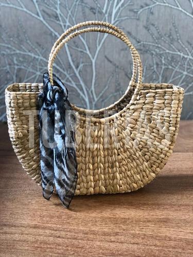 bolsa de palha de milho praia feira taboa sacola 40x39x10