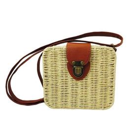 9cb1cc755 Bolsa Quadrada Palha - Bolsa de Palha Femininas Dourado escuro no Mercado  Livre Brasil