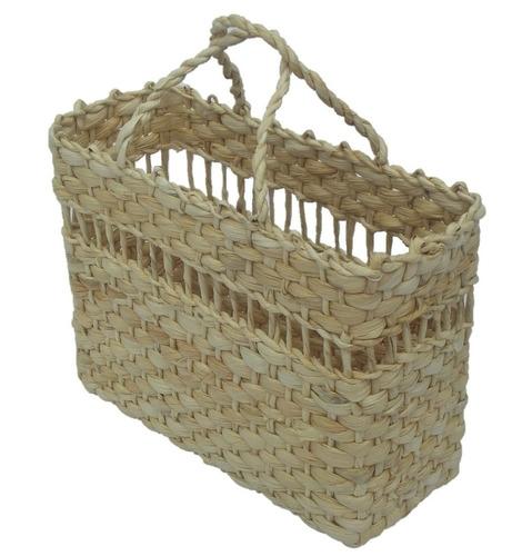 bolsa de palha sacola de feira praia passar fita 35x11x27 n2