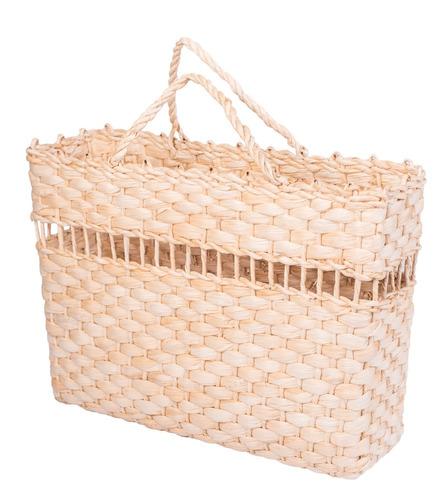 bolsa de palha sacola de feira praia passar fita 40x13x30 n3